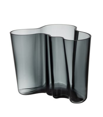 iittala Aalto Vase dunkelgrau 160 mm