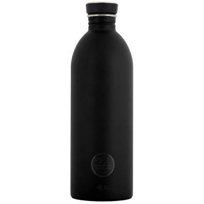 24bottles Edelstahlflasche 1,0 l schwarz – Bild 1