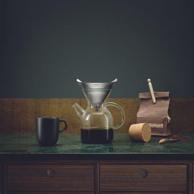 eva solo Pour-over Kaffebereiter - 1 Liter Glaskanne mit Edelstahlkaffeefilter  – Bild 5