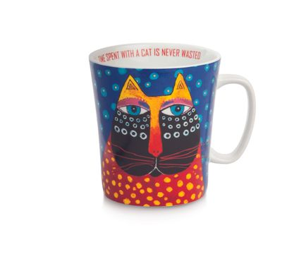 Laurel Burch - Becher Tasse - FANTASTIC FELINES - TIME SPENT WITH A CAT IS NEVER WASTED