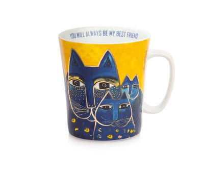 Laurel Burch - Becher Tasse - FANTASTIC FELINES - YOU WILL BE ALWAYS MY BEST FRIEND
