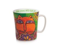Laurel Burch - Becher Tasse - FANTASTIC FELINES - BRING SPRING INTO YOUR LIFE