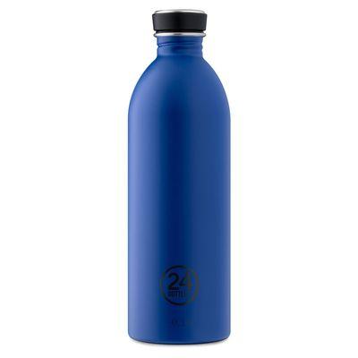 24bottles Edelstahlflasche 1,0 l dunkelblau gold blue – Bild 1