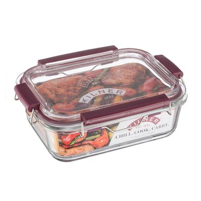 KILNER Frischhaltebox 1400 ml mit Bügelverschluss , Borosilikatglas – Bild 2