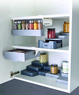 JOSEPH JOSEPH CupboardStore - Kompakter gestufter Organizer mit Schublade- grau – Bild 6