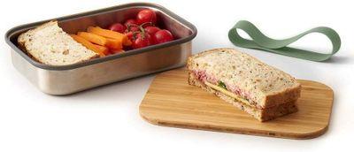 black + blum Edelstahl Sandwichbox klein 900 ml, olive – Bild 2