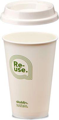 ALADDIN RE-Use Mehrwegbecher weiß mit Logo, 350 ml – Bild 2