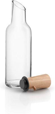 eva solo  Glaskaraffe mit Holzstopfen | 1.0l | Glas, Eichenholz und Silikon – Bild 1