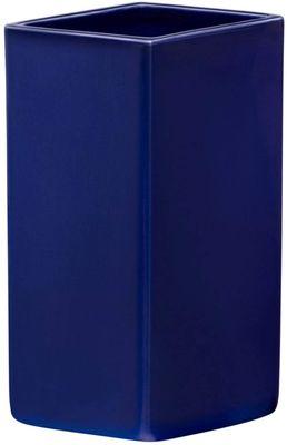 iittala Ruutu Keramik-Vase 180 mm dunkelblau – Bild 1