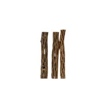 "Borneo Wild Cactus Wood Stick 2 6"" 2,2-5 cm 3 Stk."