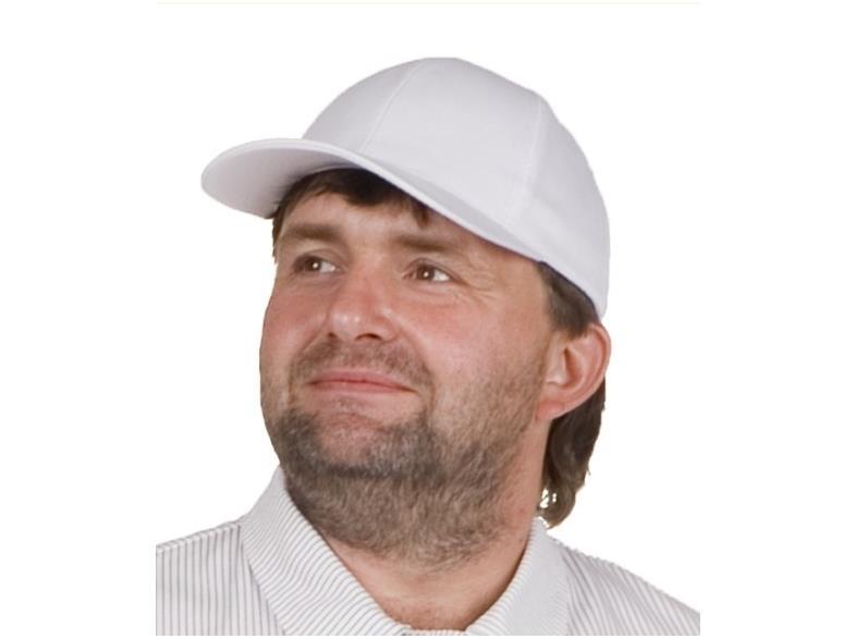 Kopfschutz Haarschutz weiß Arbeitsschutz Baseball Cap mit Klettverschluss – Bild $_i