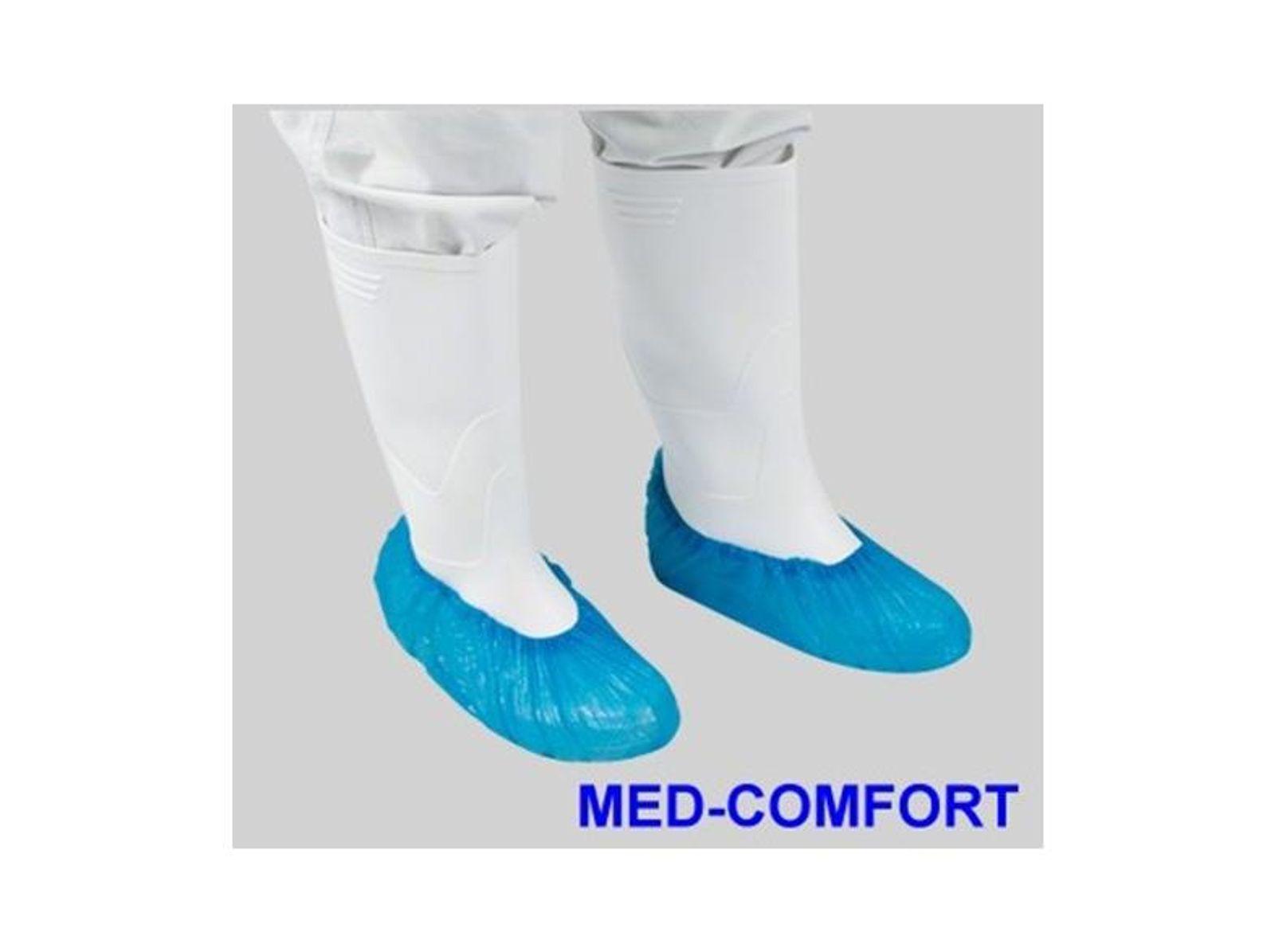 Einwegüberschuhe 100Stück Med Comfort blau Schutzüberzieher Einweg Überzieher 001