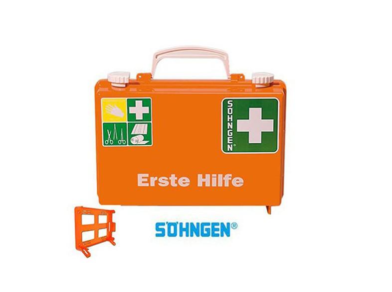 Erste Hilfe Koffer Verbandskoffer Verbandschrank Küche Söhngen DIN 13157  – Bild $_i