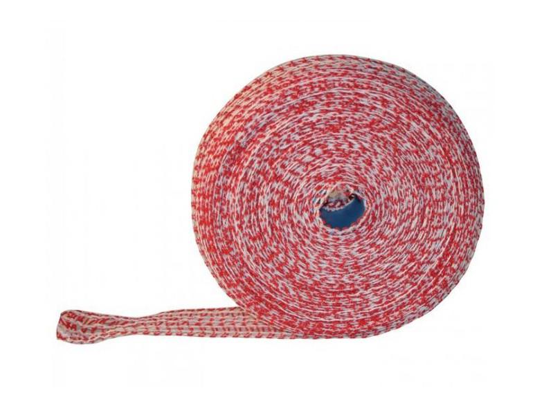 Lachsschinkennetze 50m rot/weiß 14er Schinkennetz Netz Bratennetz  – Bild $_i