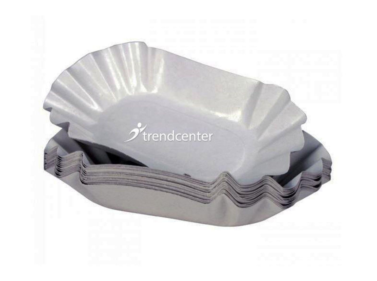 Pappteller Pappschalen 11x19.5x3.2cm 1000St Pommesschale Einwegteller Imbissteller 001