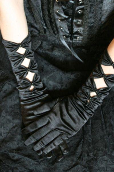 Handschuhe Satin Long – Bild 1