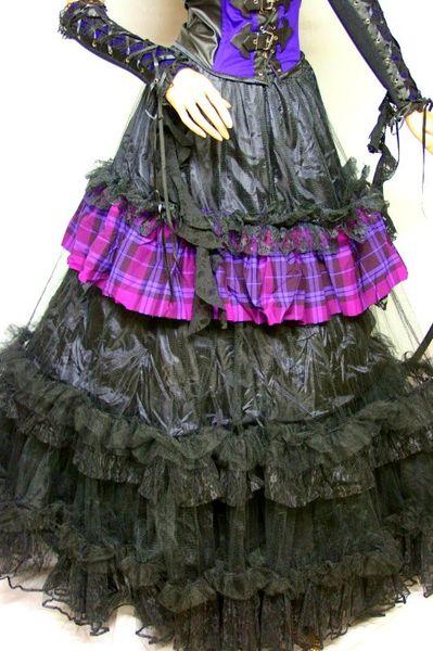Heavy Tartan Tulle Skirt – Bild 4