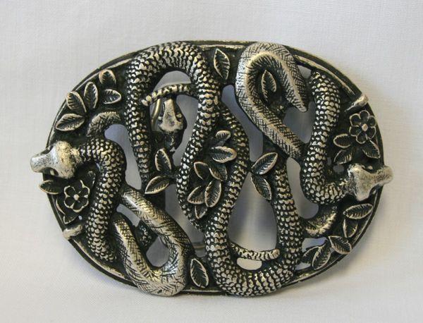 Buckle Schlangennest altsilber – Bild 1