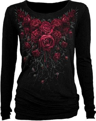 Longshirt Blood Rose