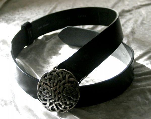 Gürtel Keltischer Knoten altsilber – Bild 3
