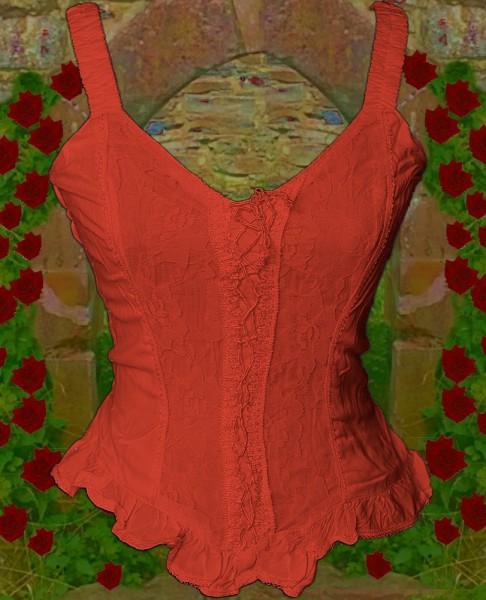 Bluse Sanja rot uni – Bild 1