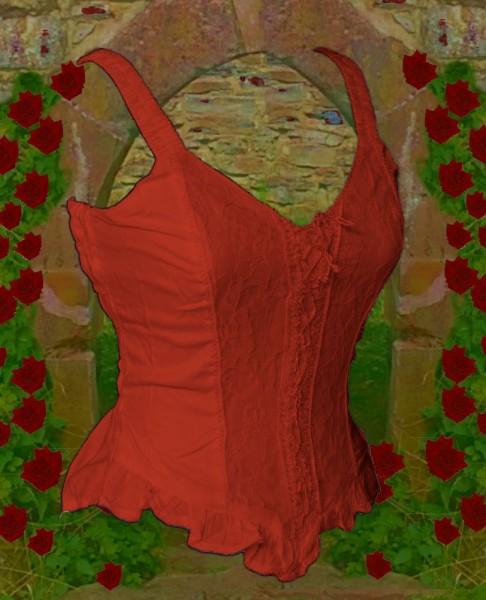 Bluse Sanja rot uni – Bild 2