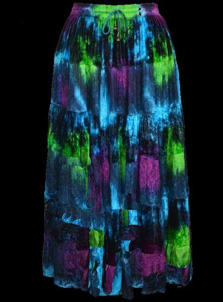 Rock Sarah grün blau lila – Bild 2