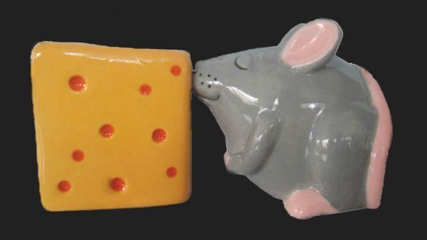 Salz - und Pfeffer - Streuer Maus und Käse