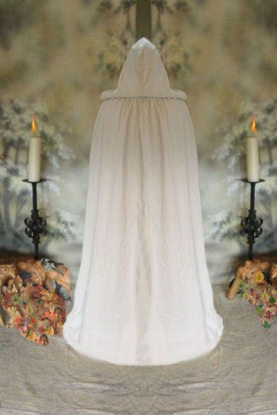 Komplette Gewandung Kleid Ermina rot weiss mit Umhang – Bild 5