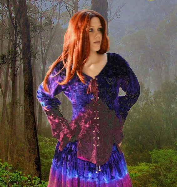 Bluse Sarah purple blue – Bild 4