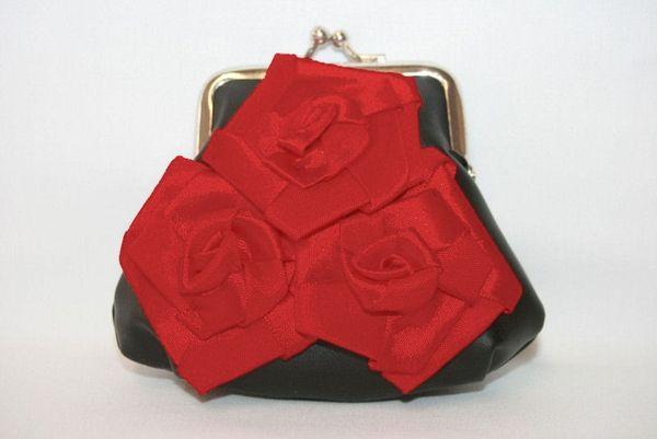 "Geldbörse / Schminktasche "" Roses """