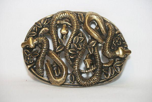 Buckle Schlangennest altmessing – Bild 1