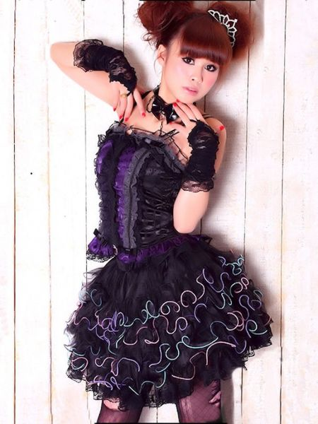 Dark Rainbow Lolita Skirt