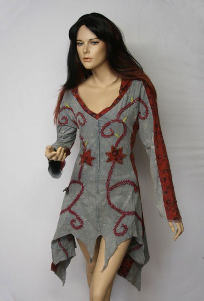 Kleid Elvish Dress grey – Bild 4