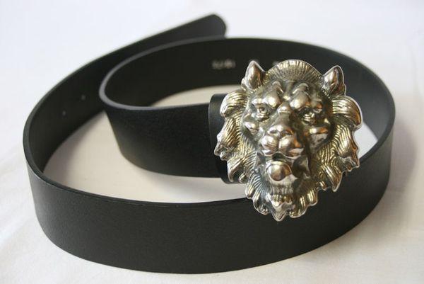 Gürtel Löwenkopf silberfarben – Bild 1