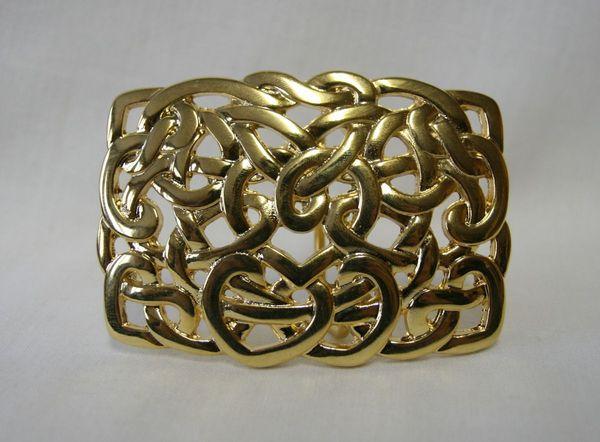 Buckle Knoten rechteckig goldfarben