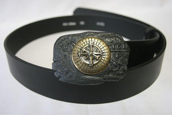 Gürtel Kompass schwarz – Bild 1