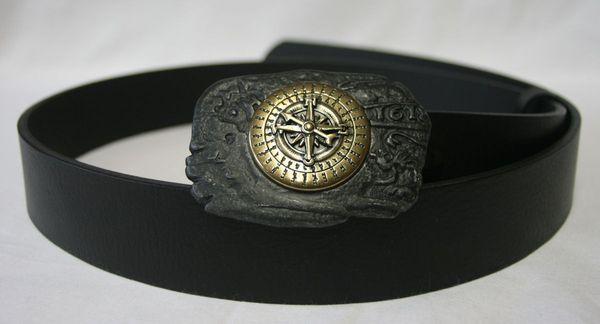 Gürtel Kompass schwarz – Bild 4