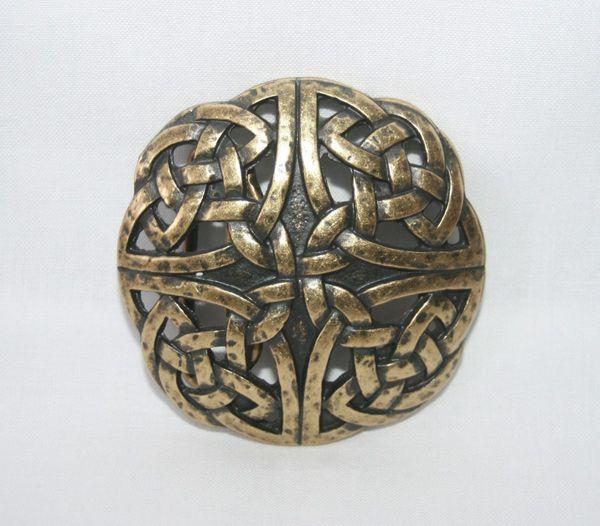 Buckle keltischer Knoten II altmessing – Bild 2