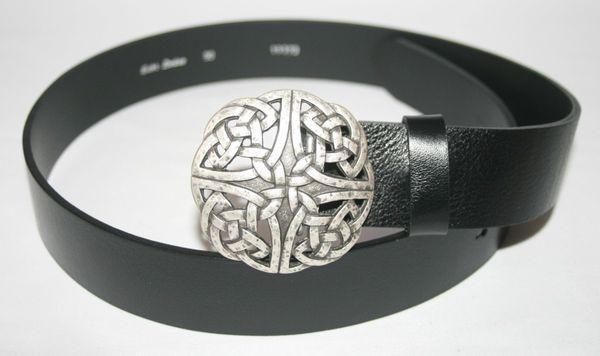 Gürtel keltischer Knoten II altsilber – Bild 1