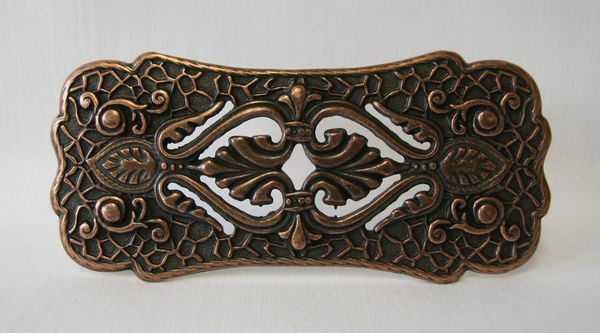 Buckle Ornament altkupfer