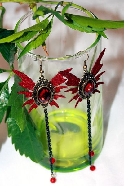 Ohrhänger Ohrringe Victorian-Butterfly-Earrings – Bild 1
