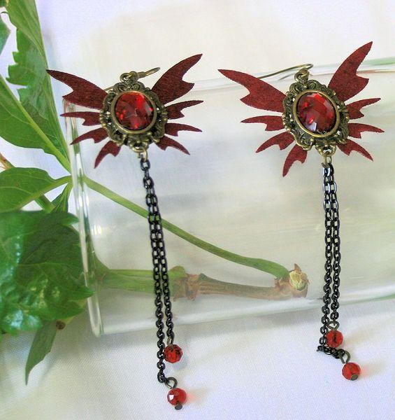 Ohrhänger Ohrringe Victorian-Butterfly-Earrings – Bild 3