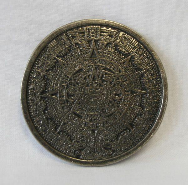 Buckle Aztekenkalender altsilber