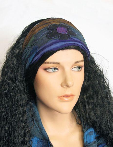 Haarband Stirnband Kimmy blau – Bild 2