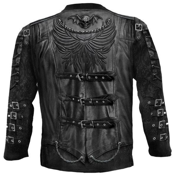 Steampunk Longsleeve Shirt Goth Wrap – Bild 3