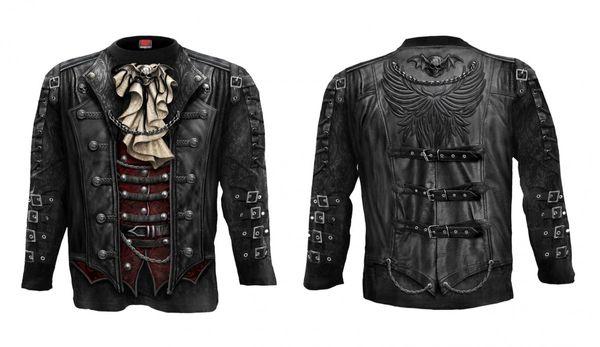 Steampunk Longsleeve Shirt Goth Wrap – Bild 1