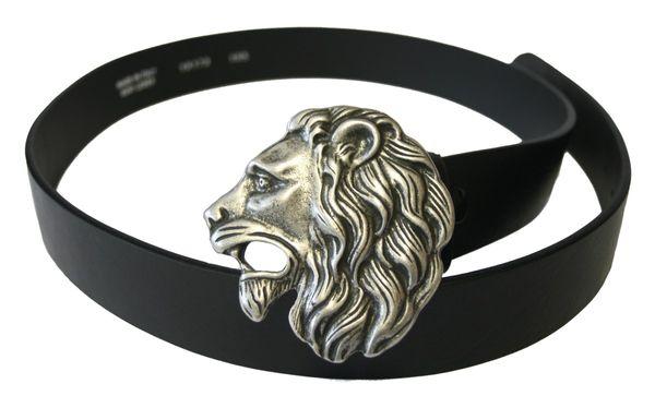 Gürtel Lionhead altsilber – Bild 1
