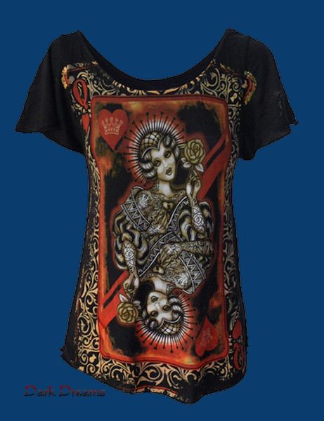 Queen of Hearts Tattoo Top – Bild 1