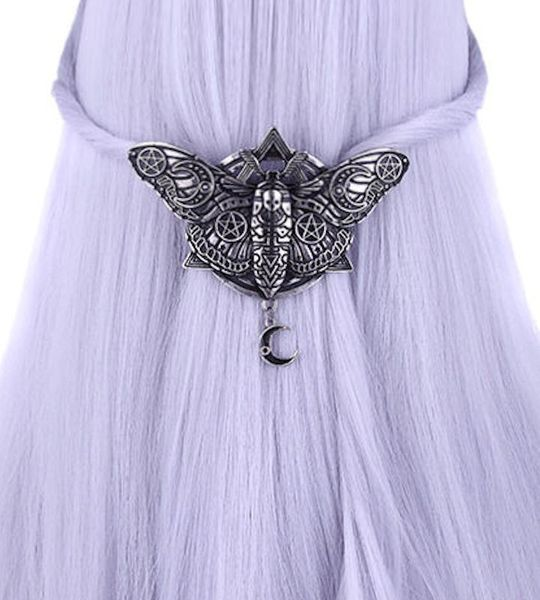 Haarspange Occult Moon Moth Hairclip – Bild 1